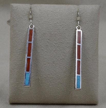Sterling Silver Medium Dancing Stick Earrings by Michael & Melanie Lente