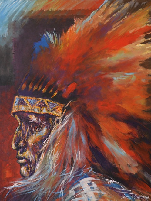 """1800 Century Chief"" 30"" X 24"" by Farrell Cockrum"