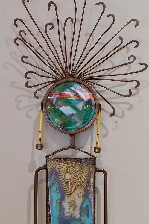 """""""Wind Story Totem - Fifth Dimension"""" Sculpture - 53"""" x 12"""" x 2"""" by Chris Turri"""