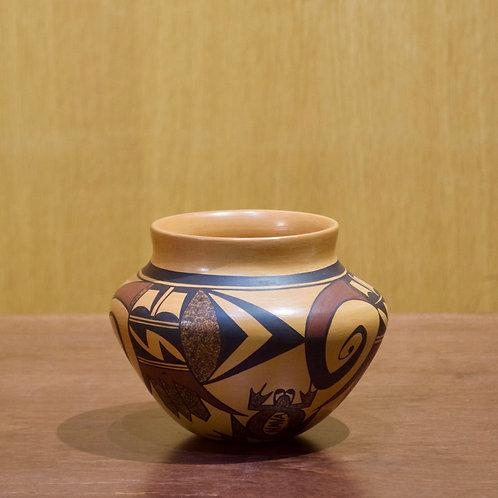 """Medium Hopi Bowl -  4 1/2""""H x 5 1/4""""D - by Charles Navasie"""