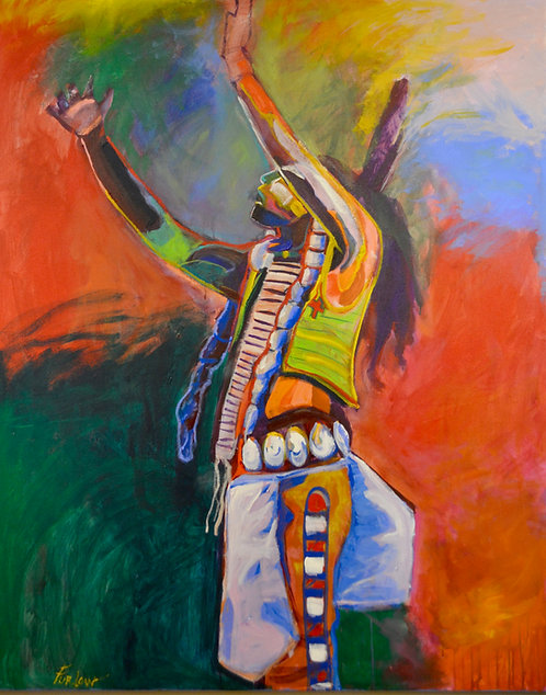 """""""Calling the Great Spirit"""" Acrylic on Canvas 60"""" x 48"""" by Malcolm Furlow"""