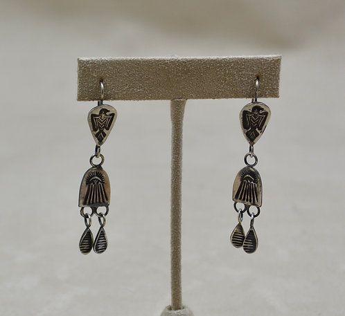 Sterling Silver Oxidized Chandelier 2 Spoons Earrings by Red Rabbit Trading