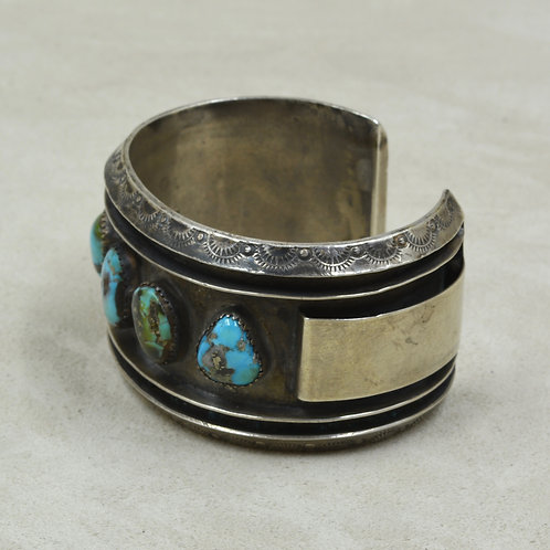 60/70's Vintage Navajo 5 Stone Turquoise Cuff