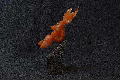 Orange Utah Alabaster by Sean Benally, Navajo