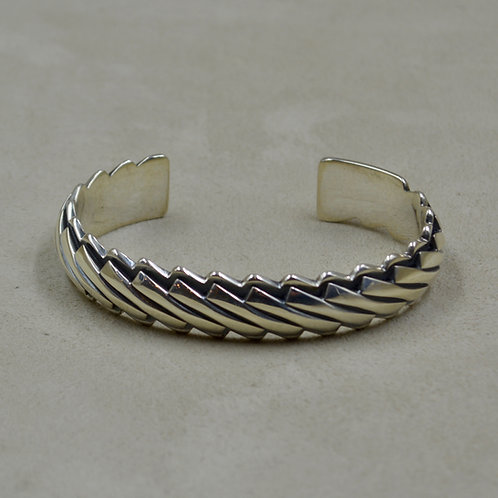 Sterling Silver 8 Guage Diagonal Left Cuff by Steve Taylor