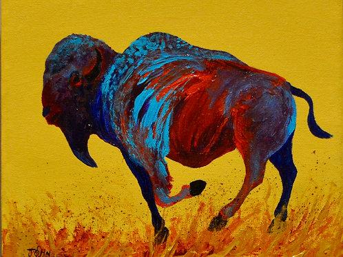 """'Far Behind' - Acrylic on Canvas - 10"""" x 12"""" - by John Saunders"""