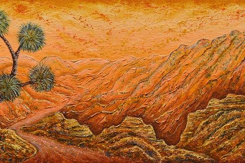 """""""Western Trail 2"""" - 14"""" X 30"""" - by Ken Bonner"""