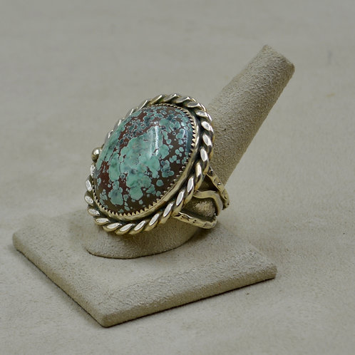 Candelaria Turquoise - Rare Pseudomorph - 11.5x Ring by James Saunders