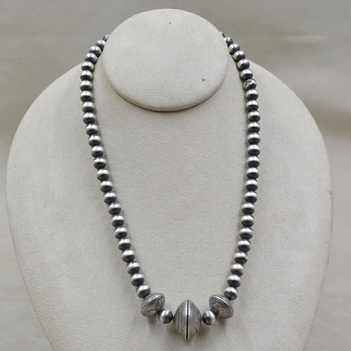 Oxidized Sterling Silver 8mm 2 Dimes & 1 Quarter Necklace by Maggie Moser