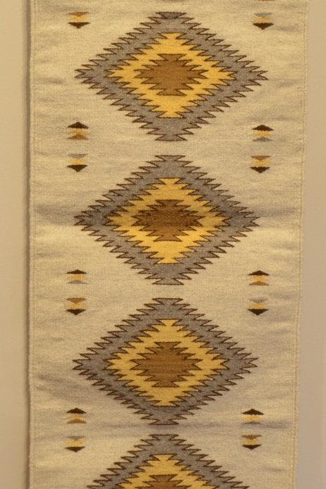 "Zapotec Runner - Centered Geometry - 56"" X 19"""