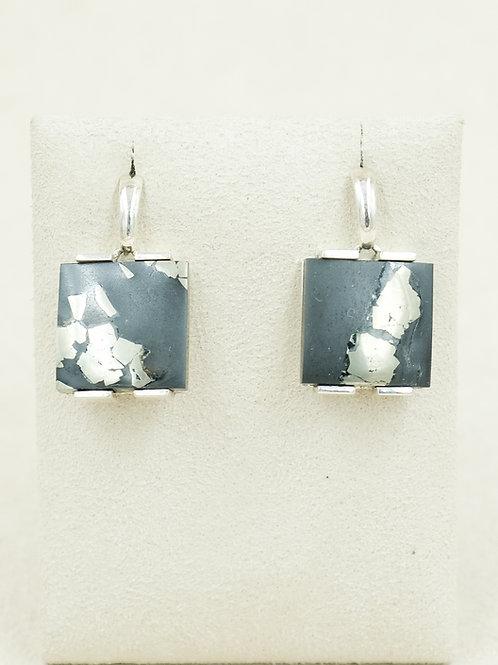 Sterling Silver w/ Pyrite Earrings by Reba Engel