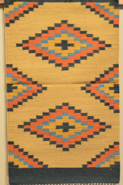 "Center Geometry Zapotec Rug - 36"" X 24"""