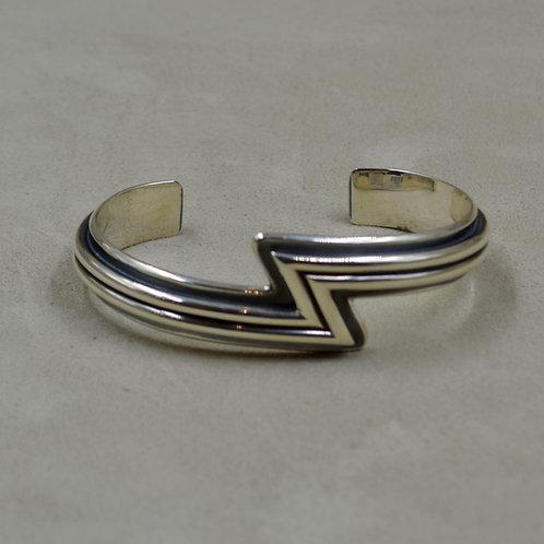 2 Strand Lightning Bolt Sterling Silver Cuff by Steve Taylor
