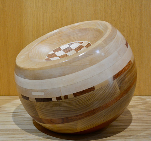 """""""Turned Orb"""" Wood Scupture 11.5""""Dia by Dave Larson"""