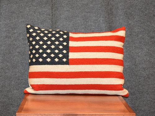 "Set of 2 American Flag Pillows - 16"" X 22"""