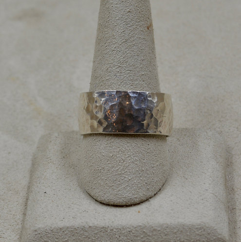 Hammered Sterling Silver 11.5x Ring by Robert Mac Eustace Jones