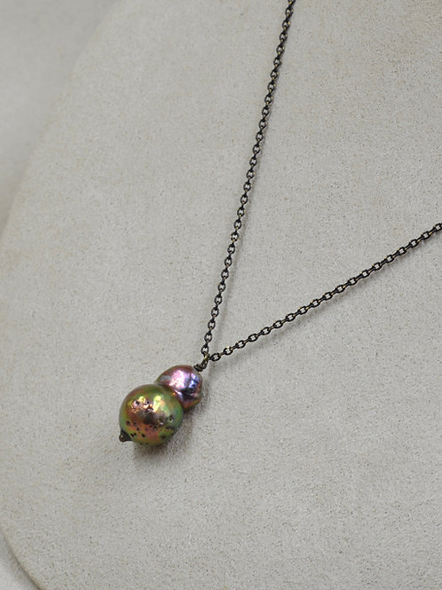 Cultured Freshwater Pearl on Copper Chain by US Pearl Co.