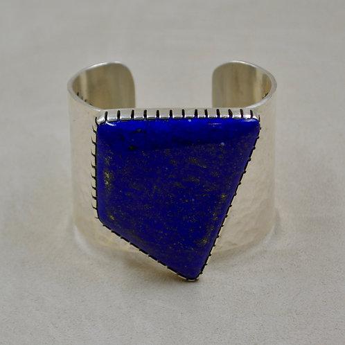 Hi-Grade Lapis & Sterling Silver Cuff by Alvin Monte