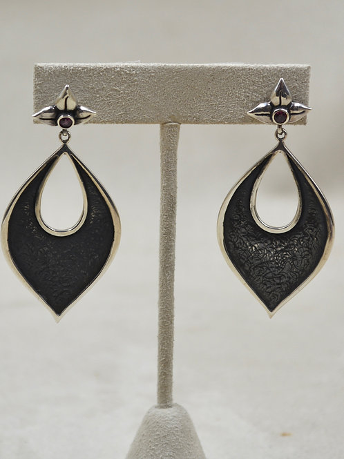 Rita Post Earrings w/ Rhodolite by Roulette 18