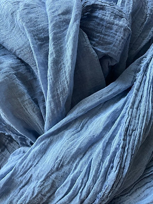 Blue Cheesecloth Runner