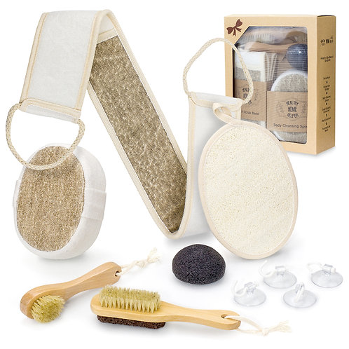 Bath Body Spa Gift Set for Home Spa - Complete Scrub Kit Accessory