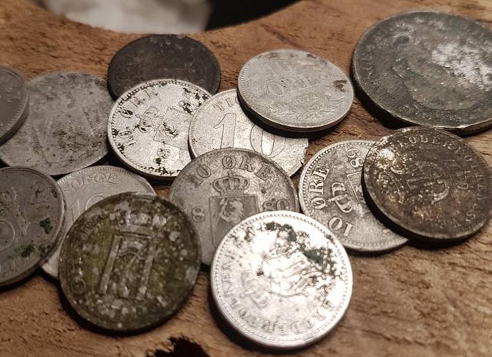 Samling av nyere mynter