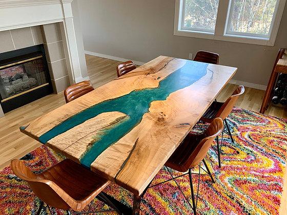 Custom Maple Resin Table