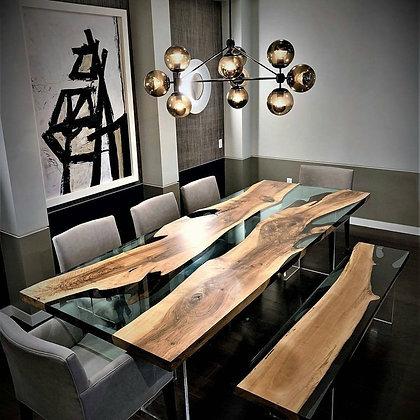 Black Walnut Resin Table