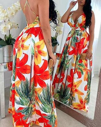 Begonia Floral Maxi Dress