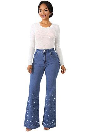 Ali Pearl Wide Leg Jeans