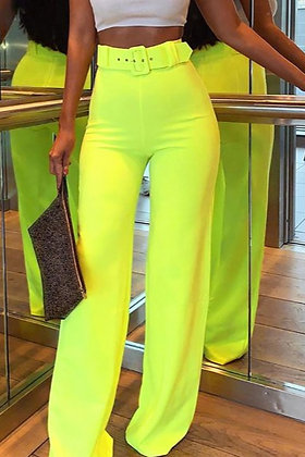 Neon Belted Pants