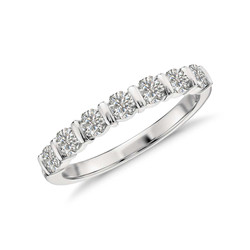 7 Stone Bar Style Ring