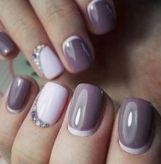 reverse tips nail design