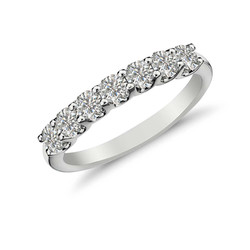 7 Stone Shared Prong Ring