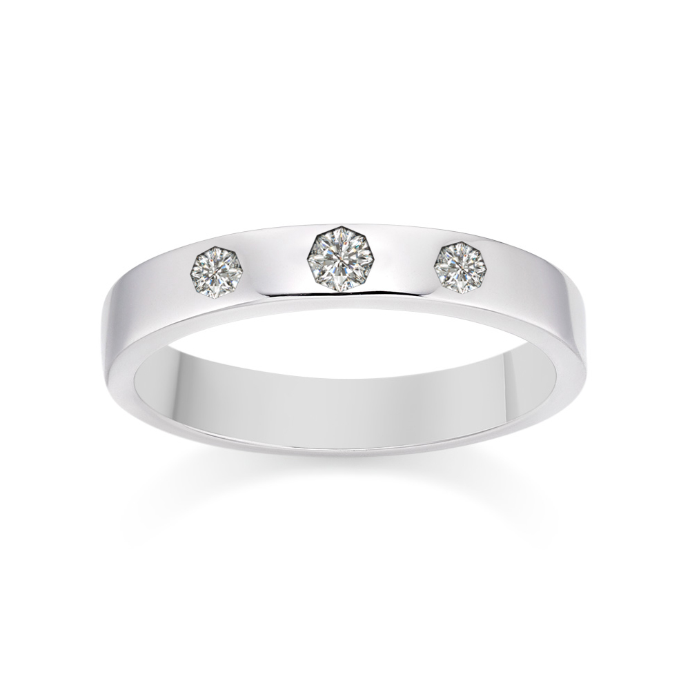 Triple Diamond Inlay Band