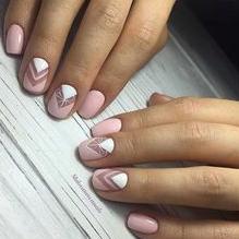 chevron nail design
