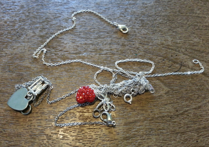 tangled necklaces