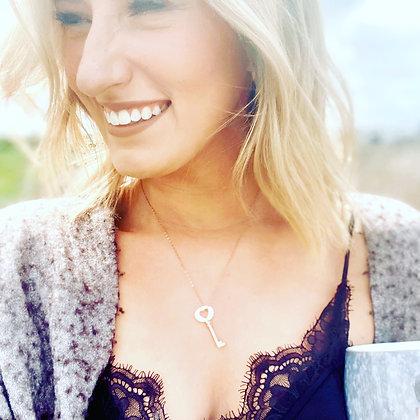 Amour Key Necklace- Rose Gold- NG2054RG