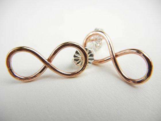 Gold Infinity Earrings- NG4027
