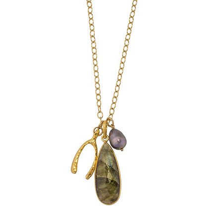 Brooke Layering Necklace in Labradorite