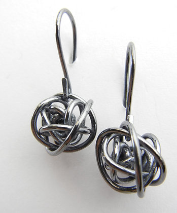 Noir Love Knot Dangle Earrings- NG2023
