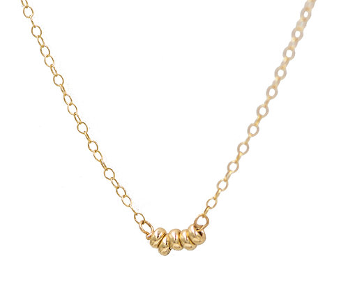 14k Gold Tiny Wish Necklace