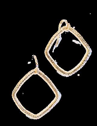 Organic Diamond Earrings