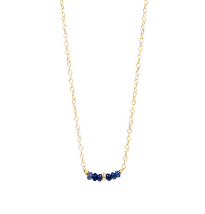Tiny Sapphire Horizon Necklace