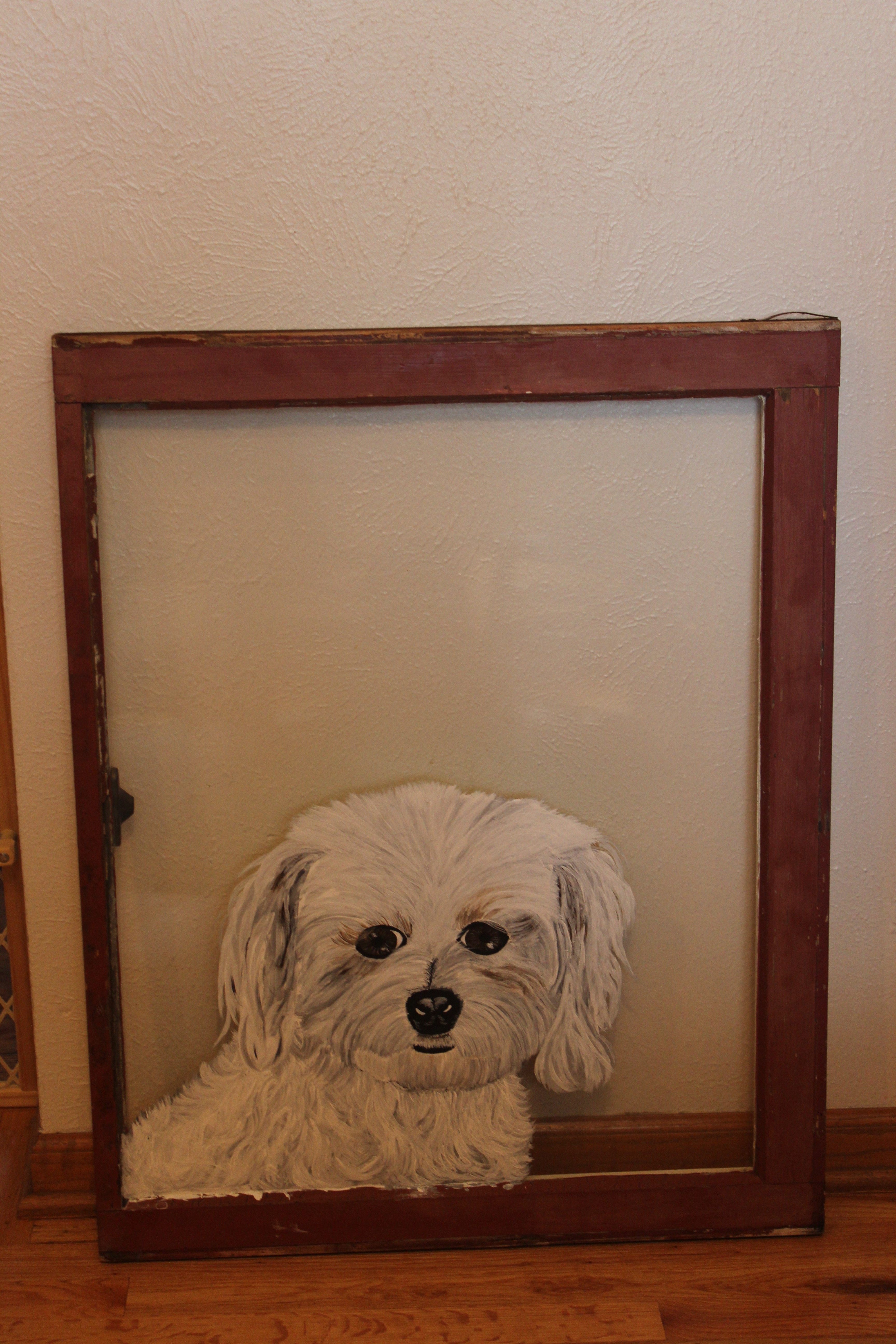 doggy in the window painting