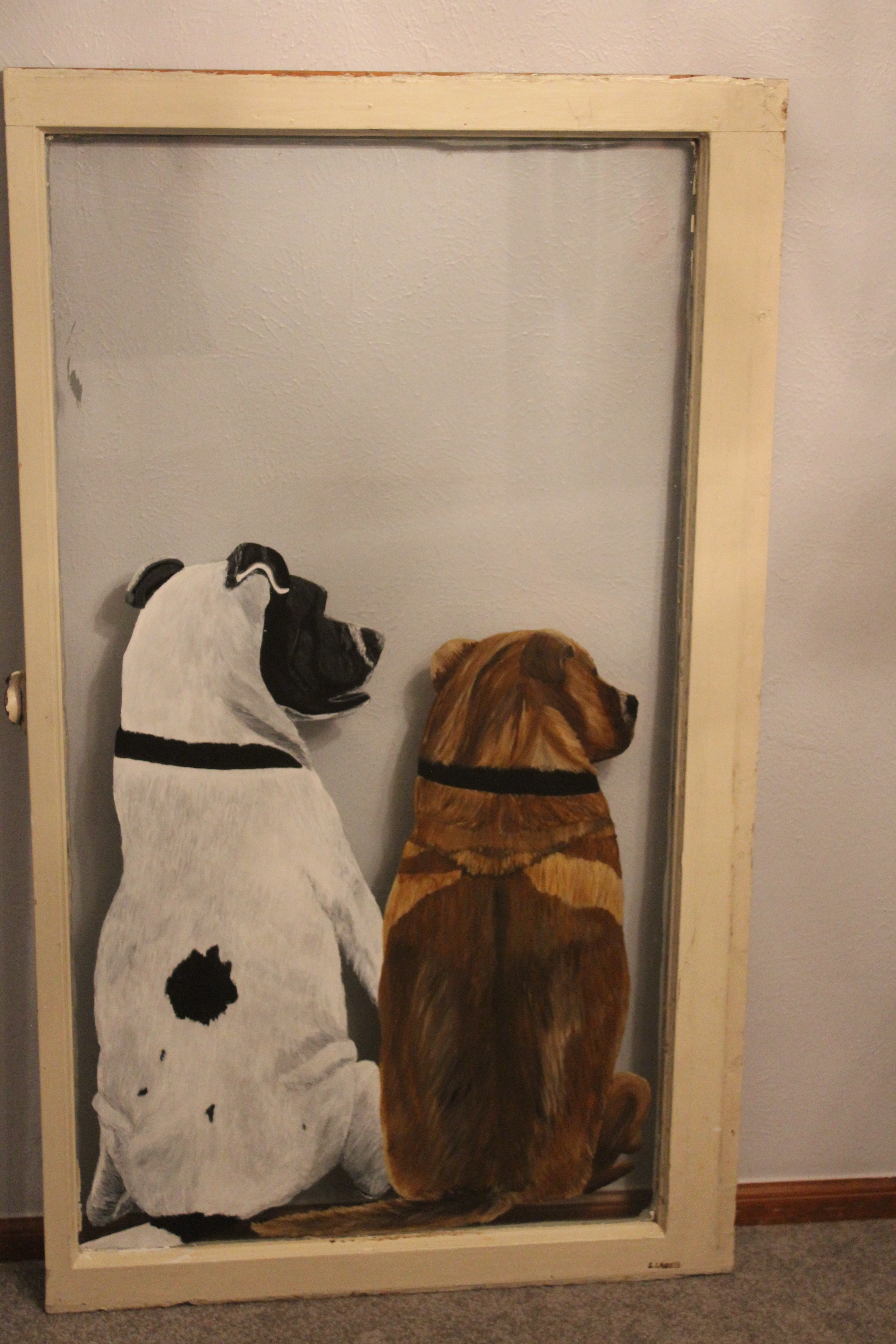 doggies in the window painting