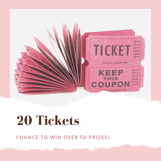 20 Prize Drawing Tickets