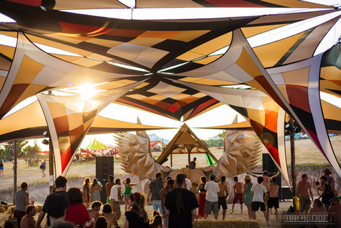 Alternative Stage Design and Build, Shade Canopy by LOcus Pocus Deco