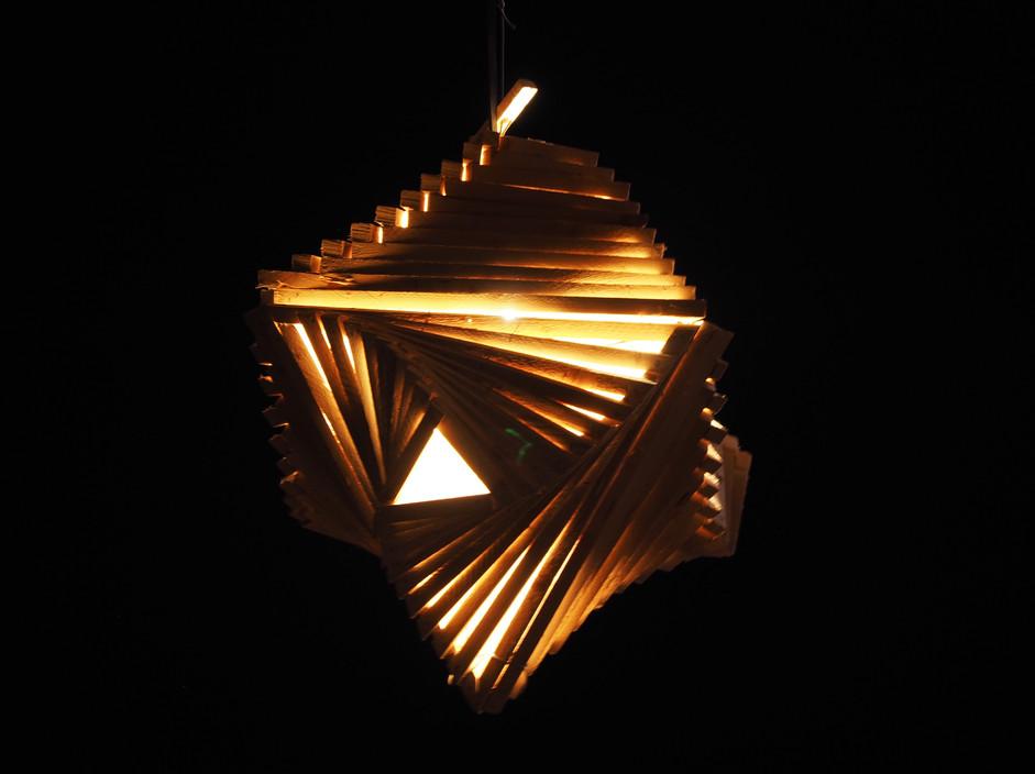 Spiral Lamp by night