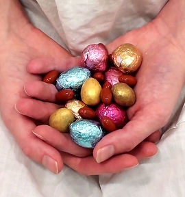 Holly Slingsby artwork eggs Eostre Eats